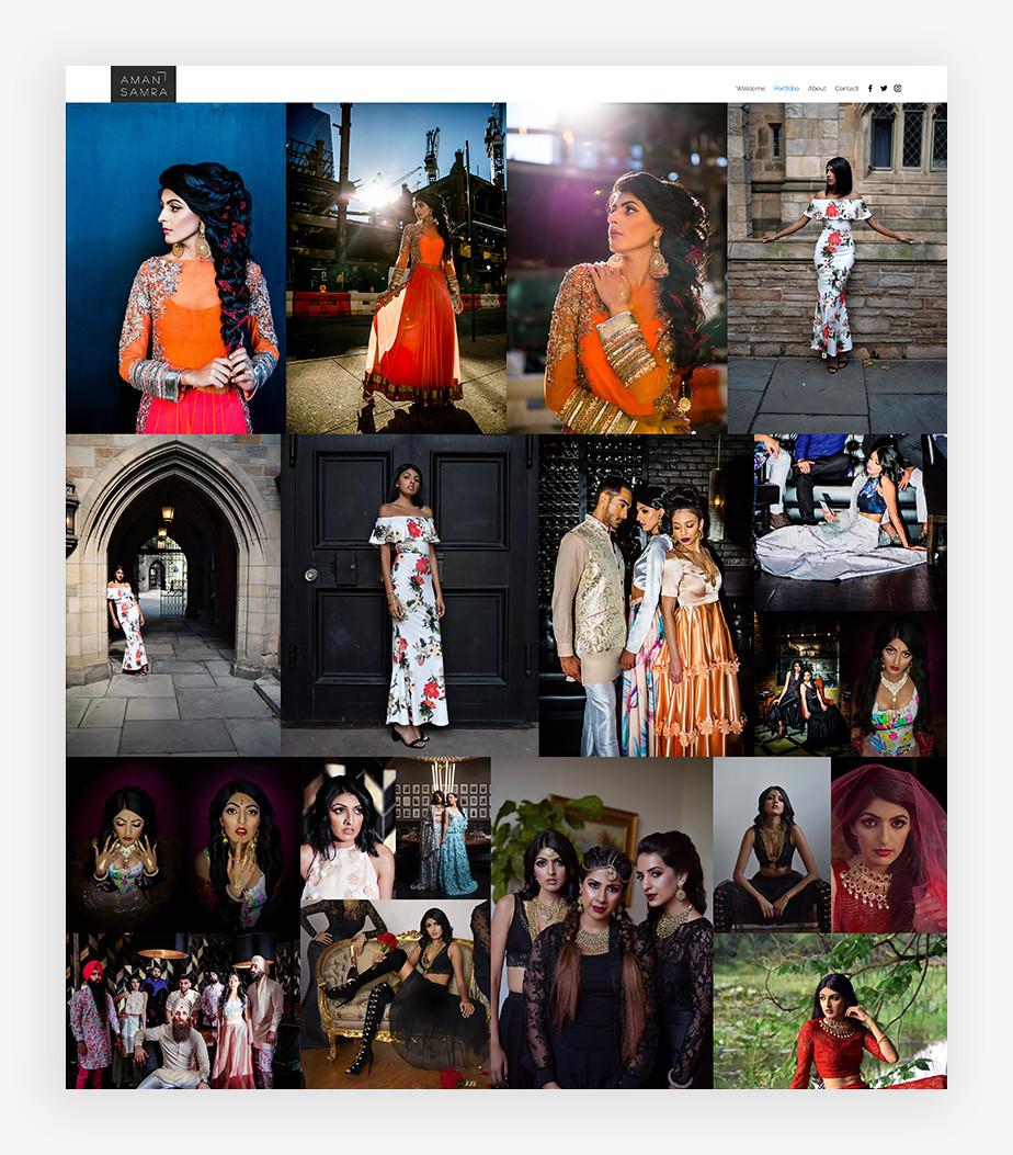 Ejemplo de portafolio digital de Aman Samra