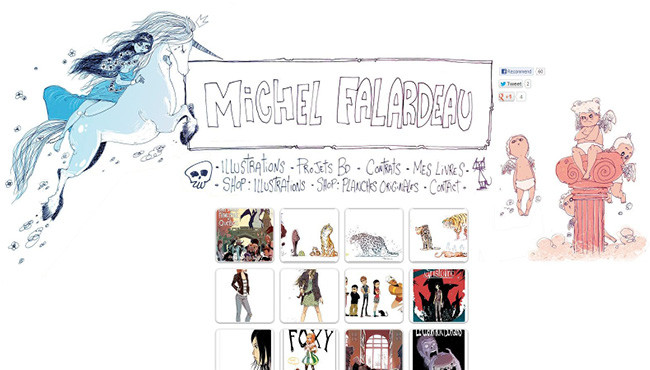 Página web de Michel Falardeau