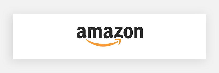 Примеры известных логотипов: Amazon