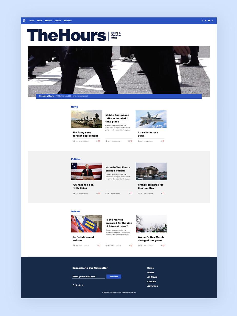 Plantilla de página web de noticias