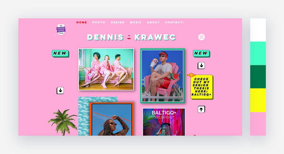 50 paletas de cores para o seu site: retrô pop