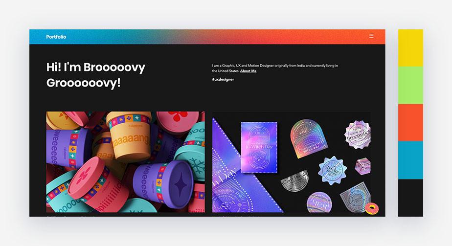 50 paletas de cores para o seu site: otimista e divertida