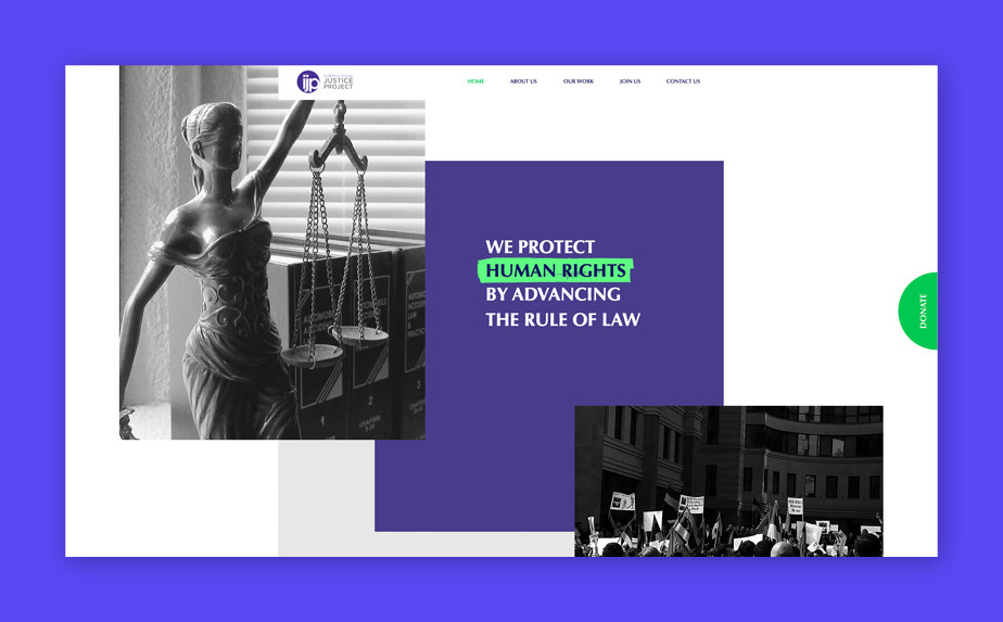 Best website designs by International Justice Project