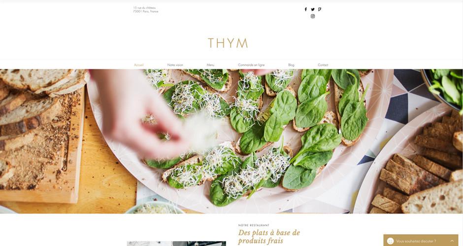 template site de restaurant