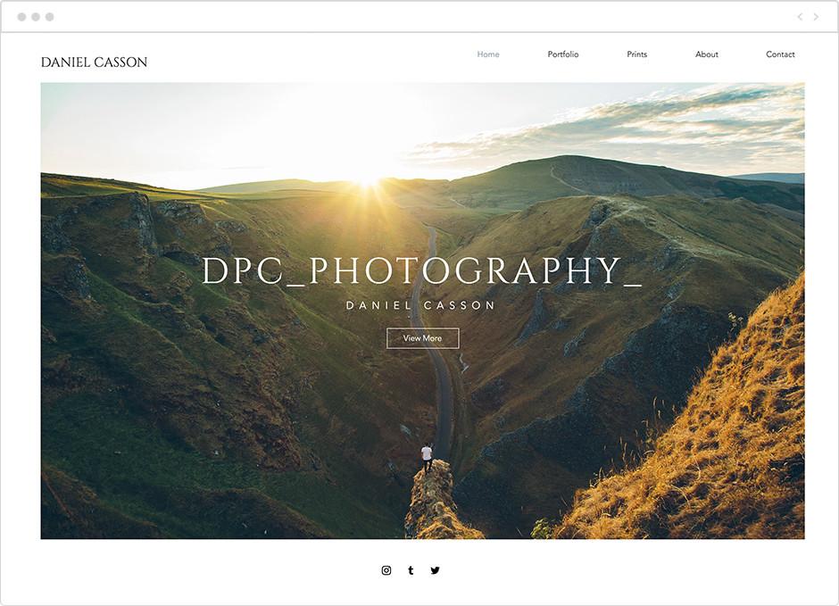 風景写真家サイト Daniel Casson
