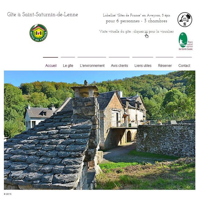 Gîte en Aveyron à Saint Saturnin de Lenne