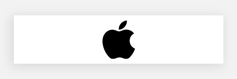 Примеры известных логотипов: Apple