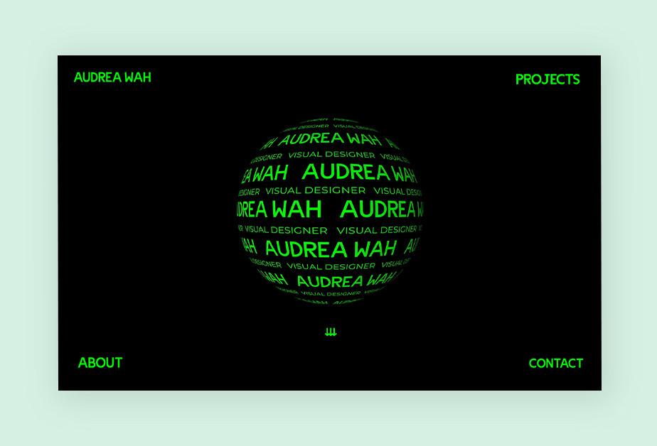 Screenshoot einer Website als Beispiel für modernes Webdesign