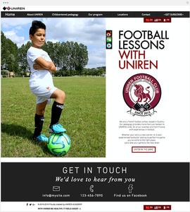 Club de football site par Wix