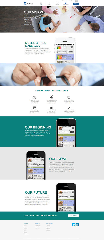 Capture d'écran du site Hoita