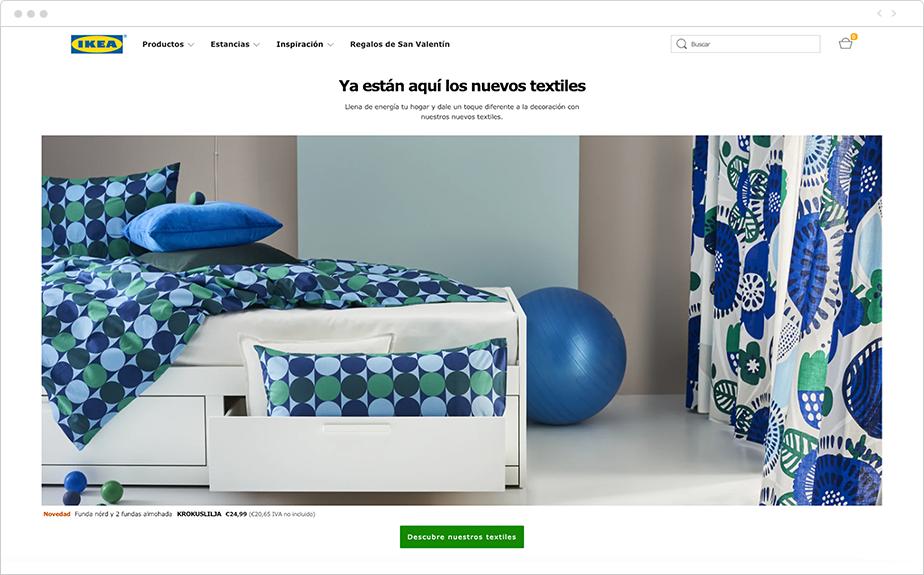 Página de inicio de Ikea