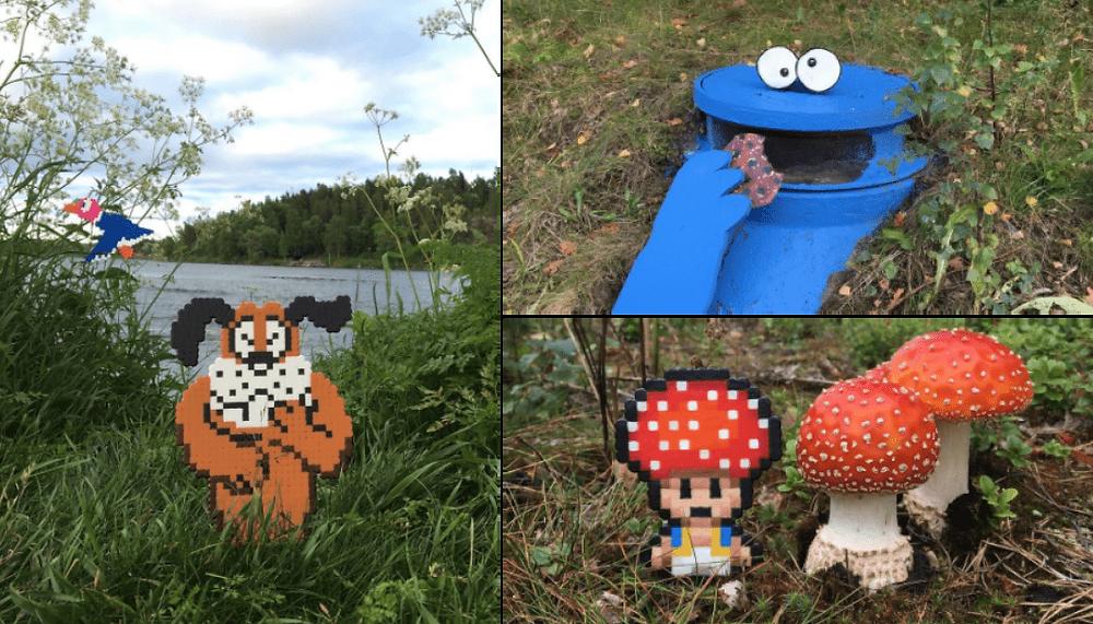 Pappas Pärlor décor les rues avec d'amusantes oeuvres de Pixel Art