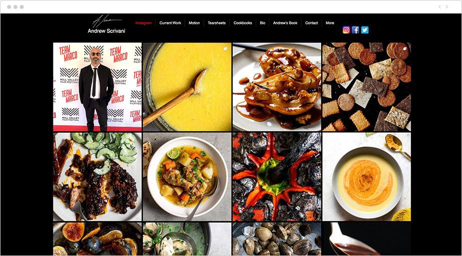 Fotos de comida de la web de Andrew Scriviani