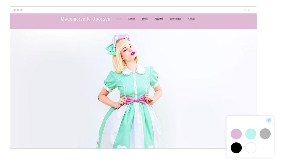 Mademoiselle Opossum Wix website