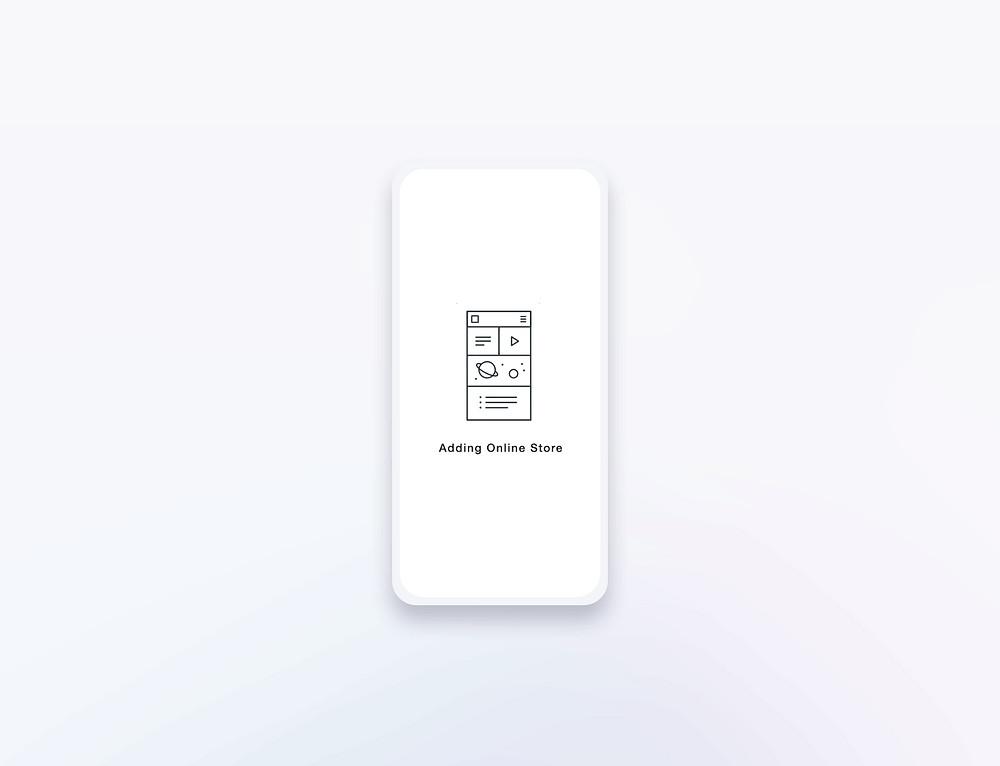 Wireframe gif on mobile mockup