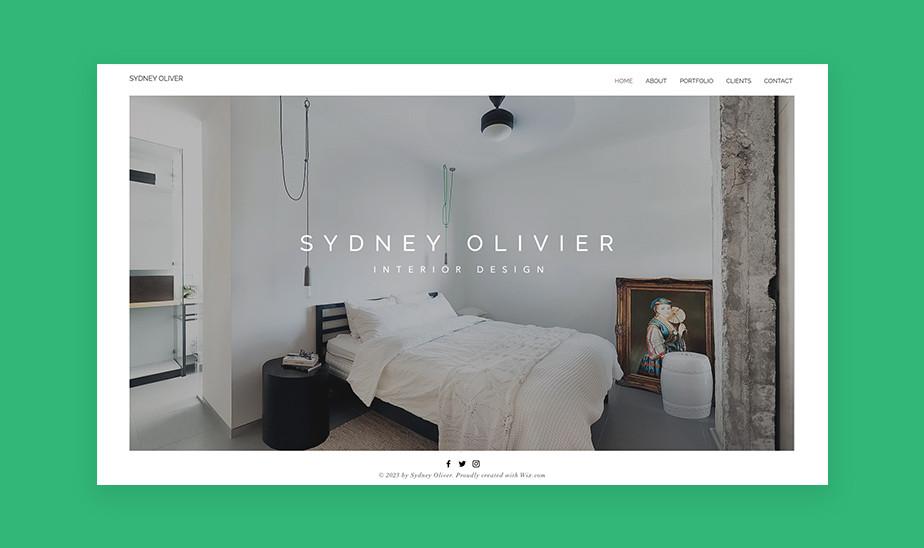 Шаблоны сайта портфолио для творческих профессий: сайт портфолио для интерьерного дизайнера