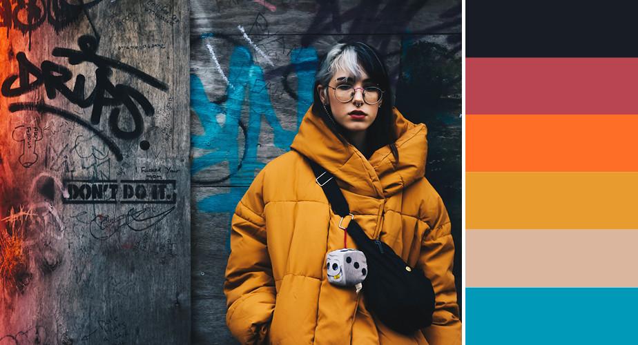 Paleta de cores que remetem ao ramo da moda e beleza