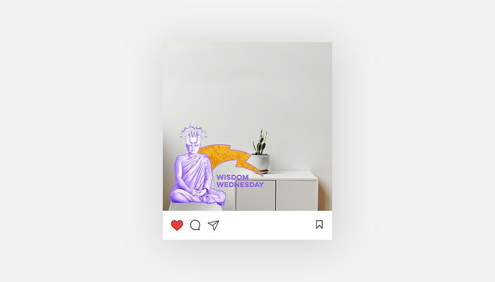 """""""Wisdom Wednesday"""" Instagram template"""