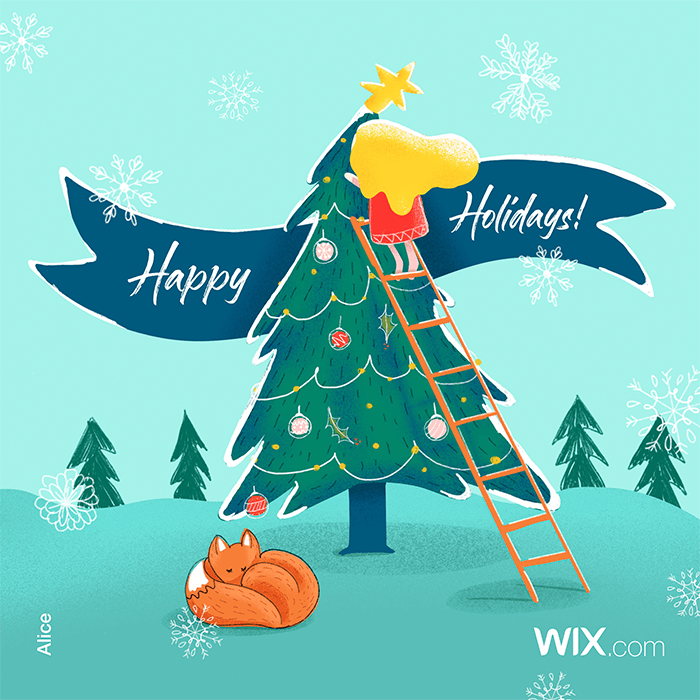 holiday greeting cards from Wix community