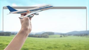 самолет рука поле