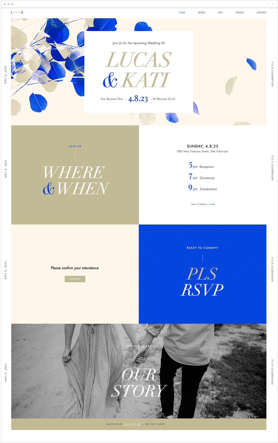 Site de mariage - template coloré