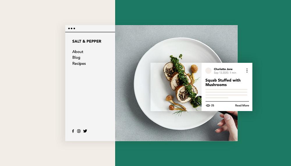 """Imagem de capa do artigo """"Como Criar um Blog de Receitas e Gastronomia"""""""