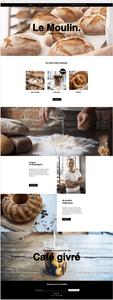 template site gratuit petit commerce boulangerie