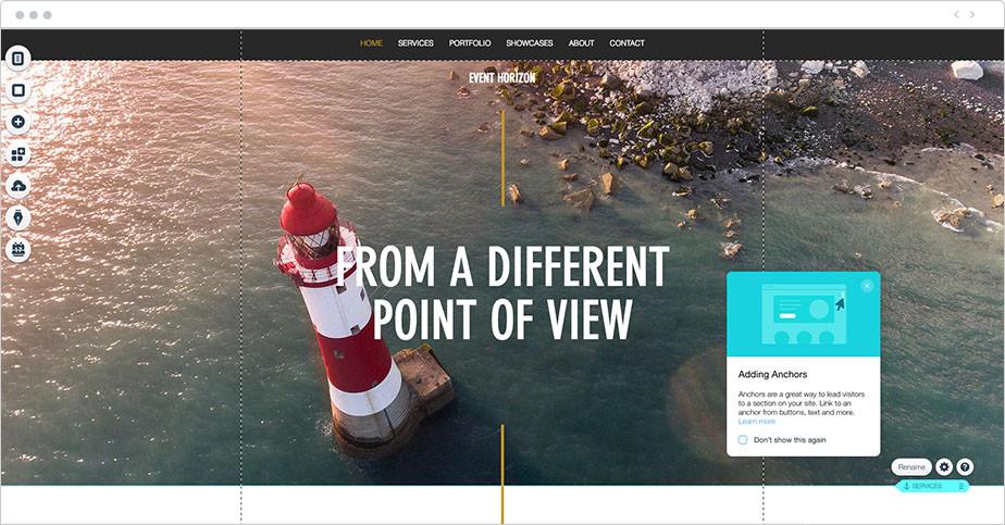 website anchors