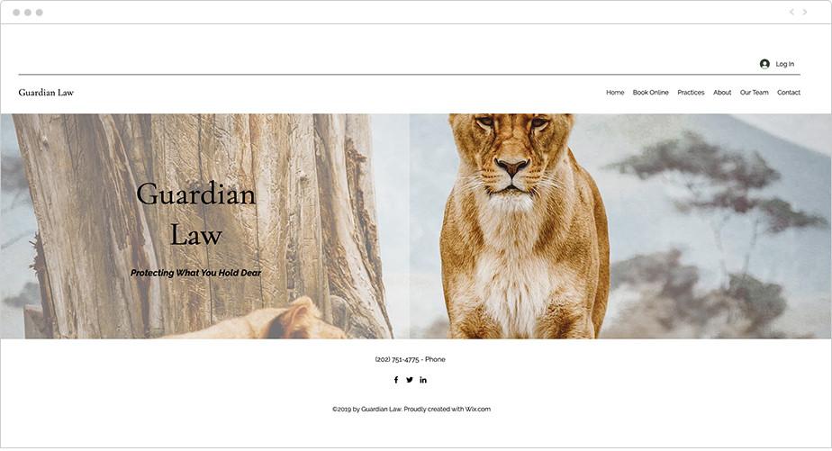 Best law firm websites Guardian Law