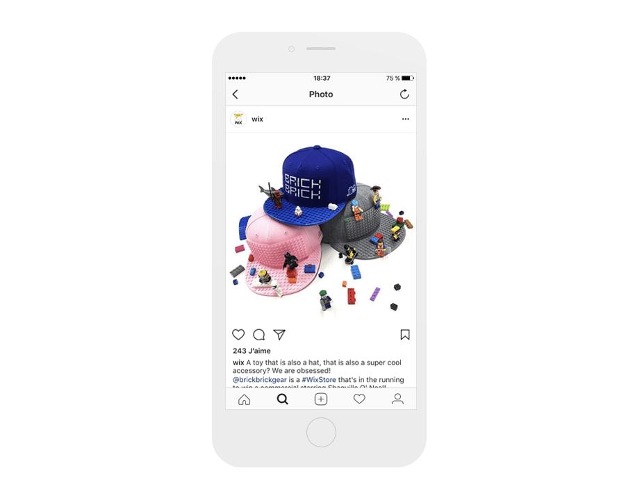 BrickBrickGear sur le compte Instagram Wix