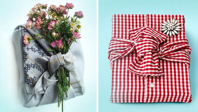 Habits utilisés pour papier cadeau