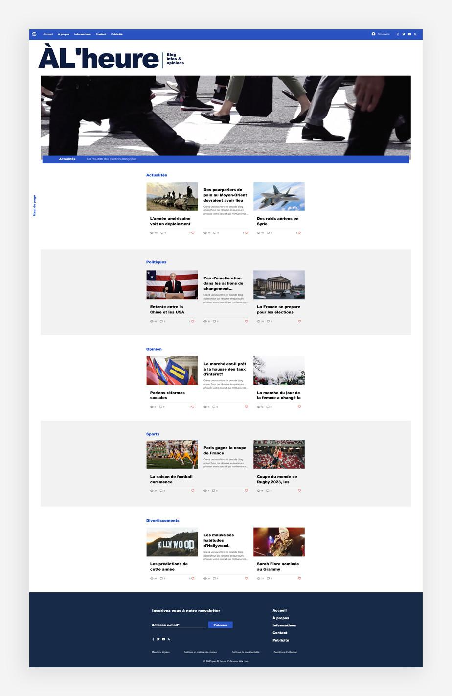 template de blog d'actualité