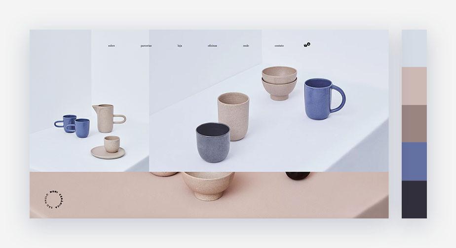 50 paletas de cores para o seu site: terroso e minimalista