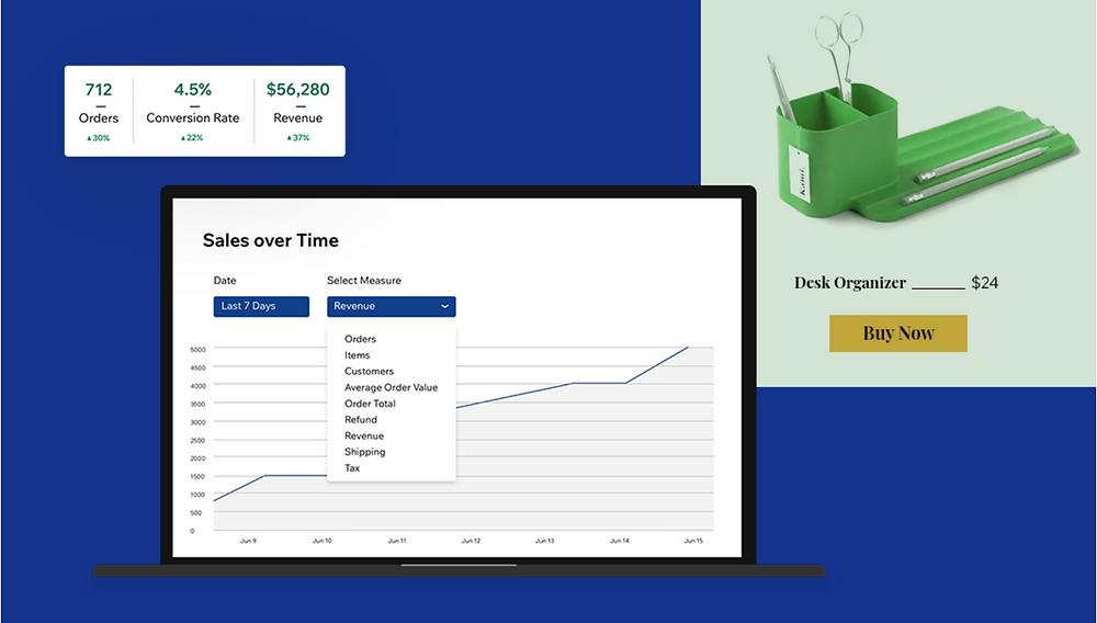 e-ticaret sitesi kurma: online mağaza gelir ve satış grafiği