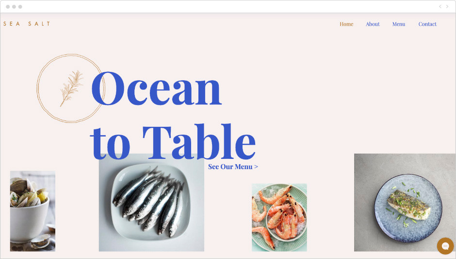Fish & seafood restaurant template