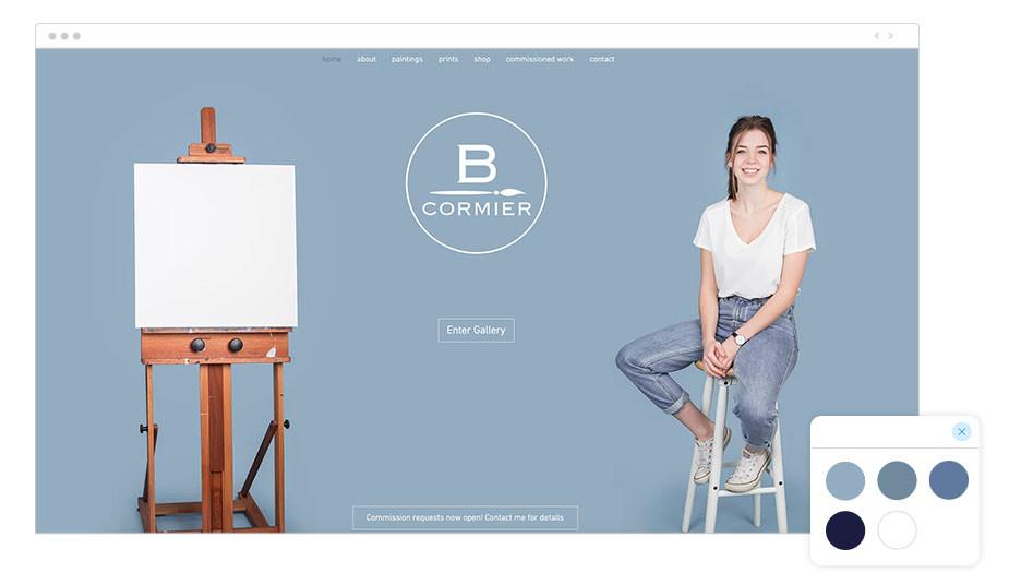Paágina Web Wix de Brooke Cormier
