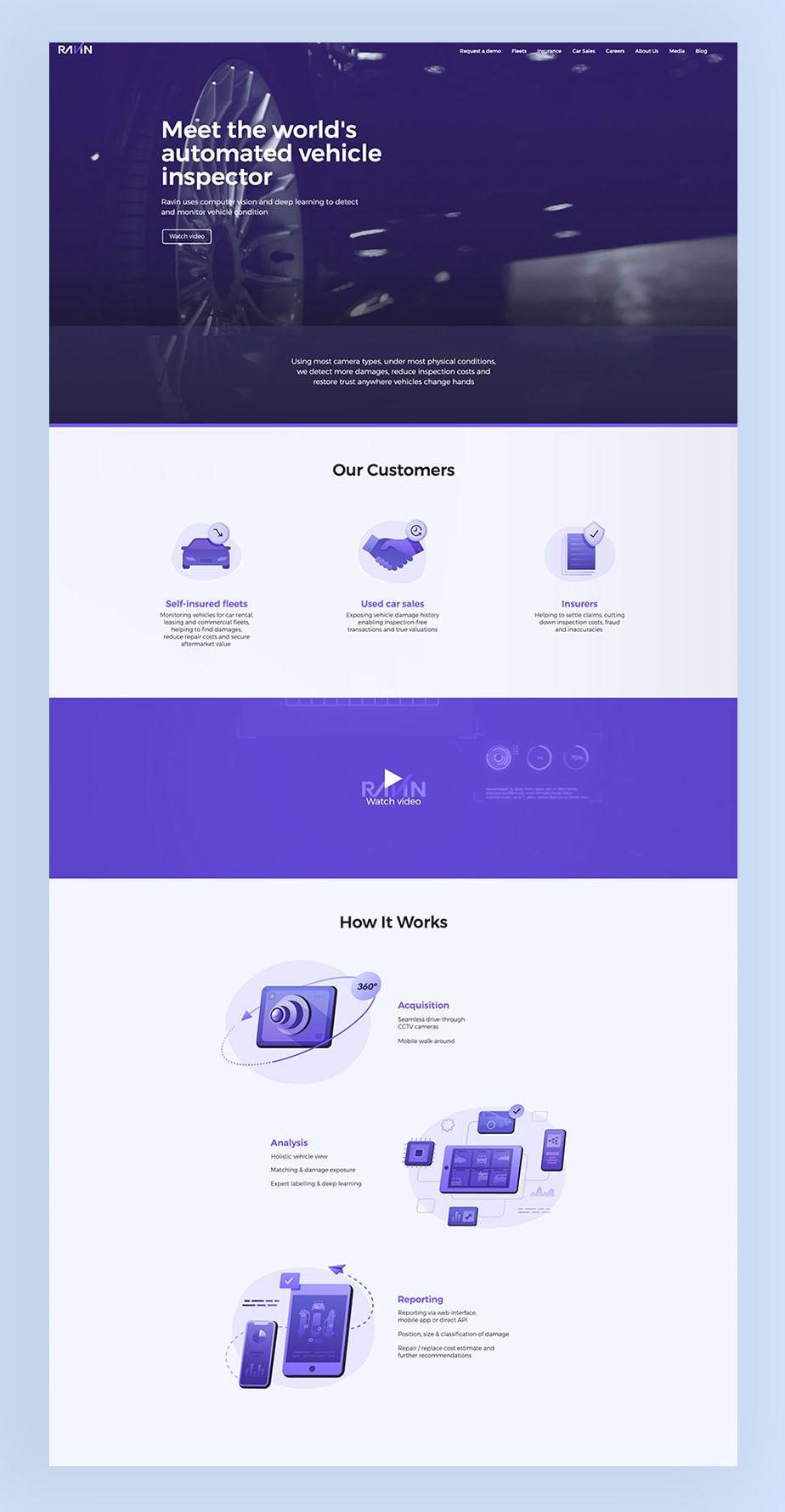 Ravin AI business website voorbeeld