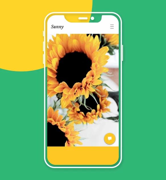 Sito web mobile Sunny