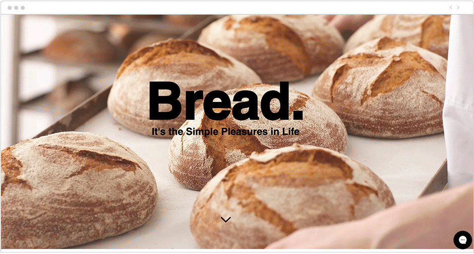 Bread Shop website template with parallax scrolling
