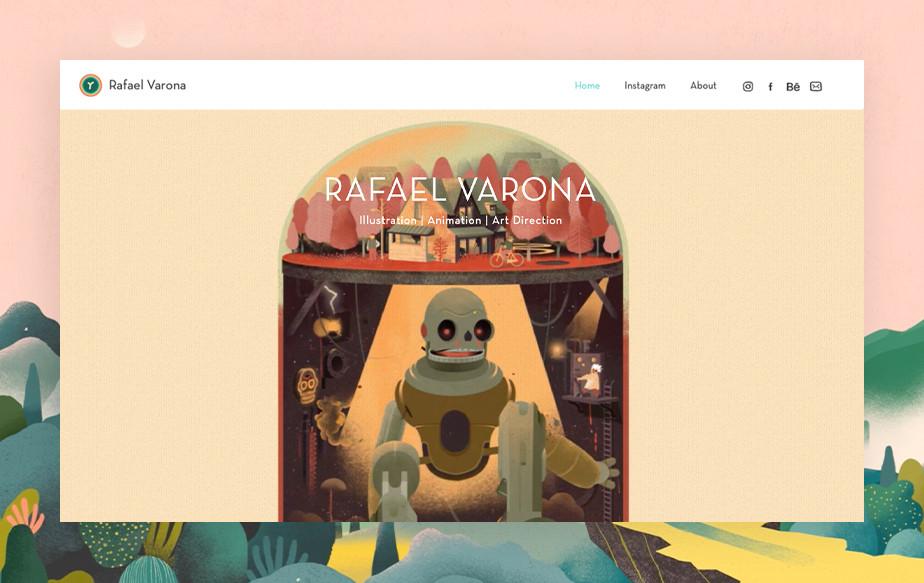De beste portfolio website: Rafael Varona