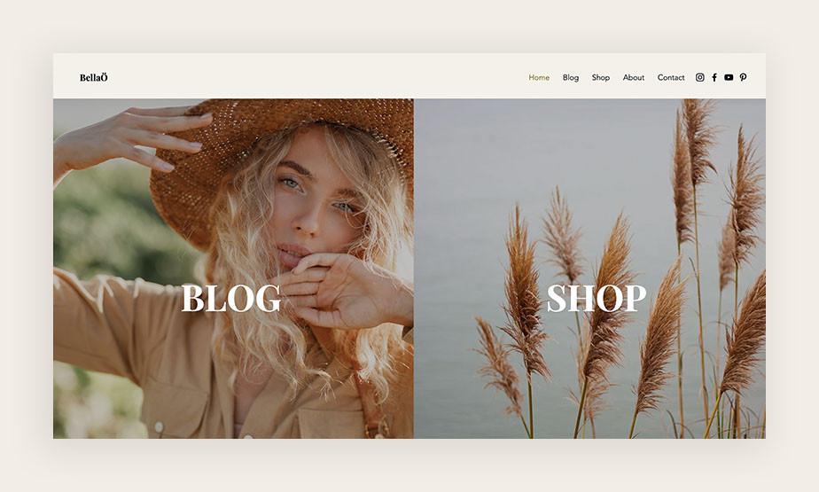 Blog en webshop combinatie voorbeeld