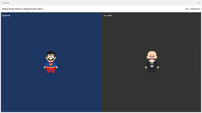 Super Mario en Super héros procrastination amusant