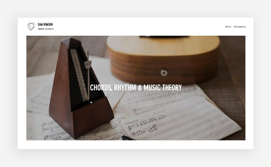 Nauka gry na instrumentach – strona internetowa