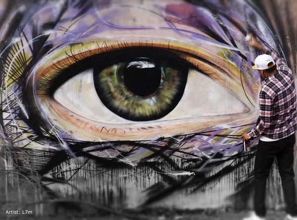 стрит-арт глаз граффити