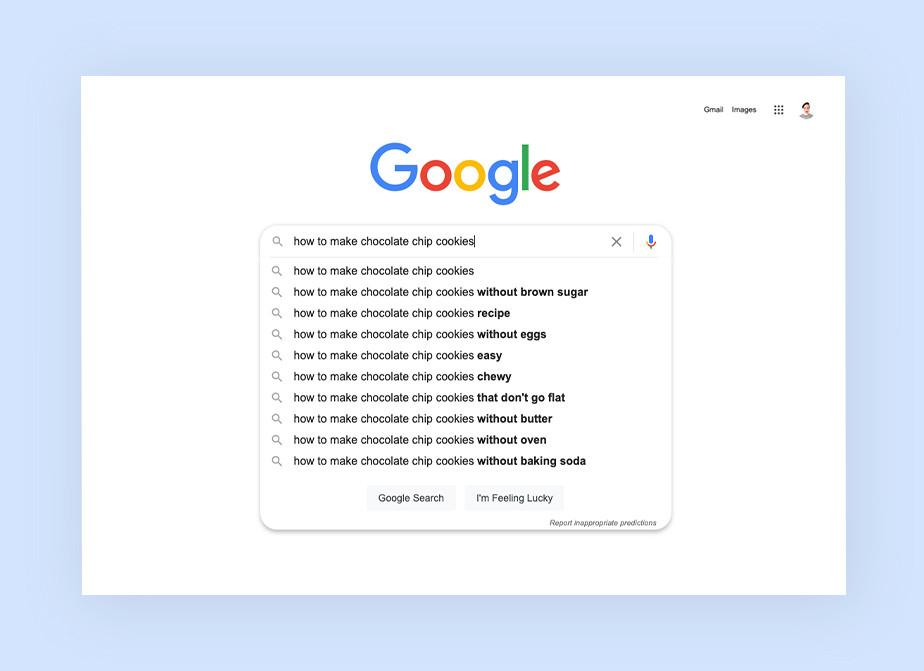 Ausschnitt einer Google-Suche