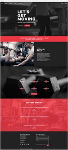 template gratuit site internet salle de sport fitness