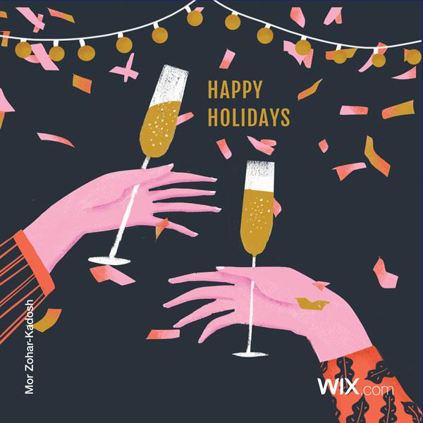 Celebrate in style with Mor Zohar-Kadosh's sparkling illustration:
