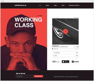 Créer un site de musicien groupe artiste avec Wix music