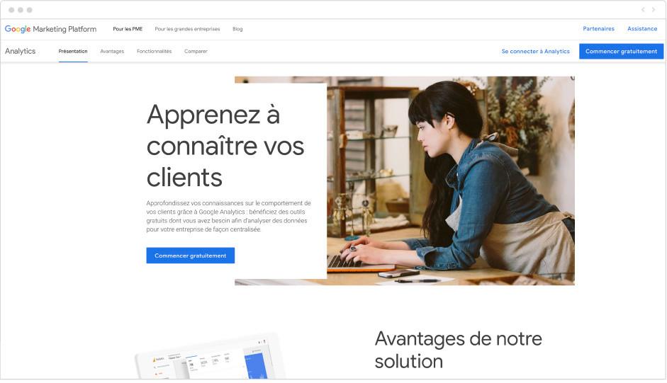 Google Analytics - outil marketing - Wix