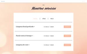 Ejemplo de página web con sistema de reservas